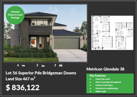 Metricon to build luxury display homes at Bridgeman Hilltop estate