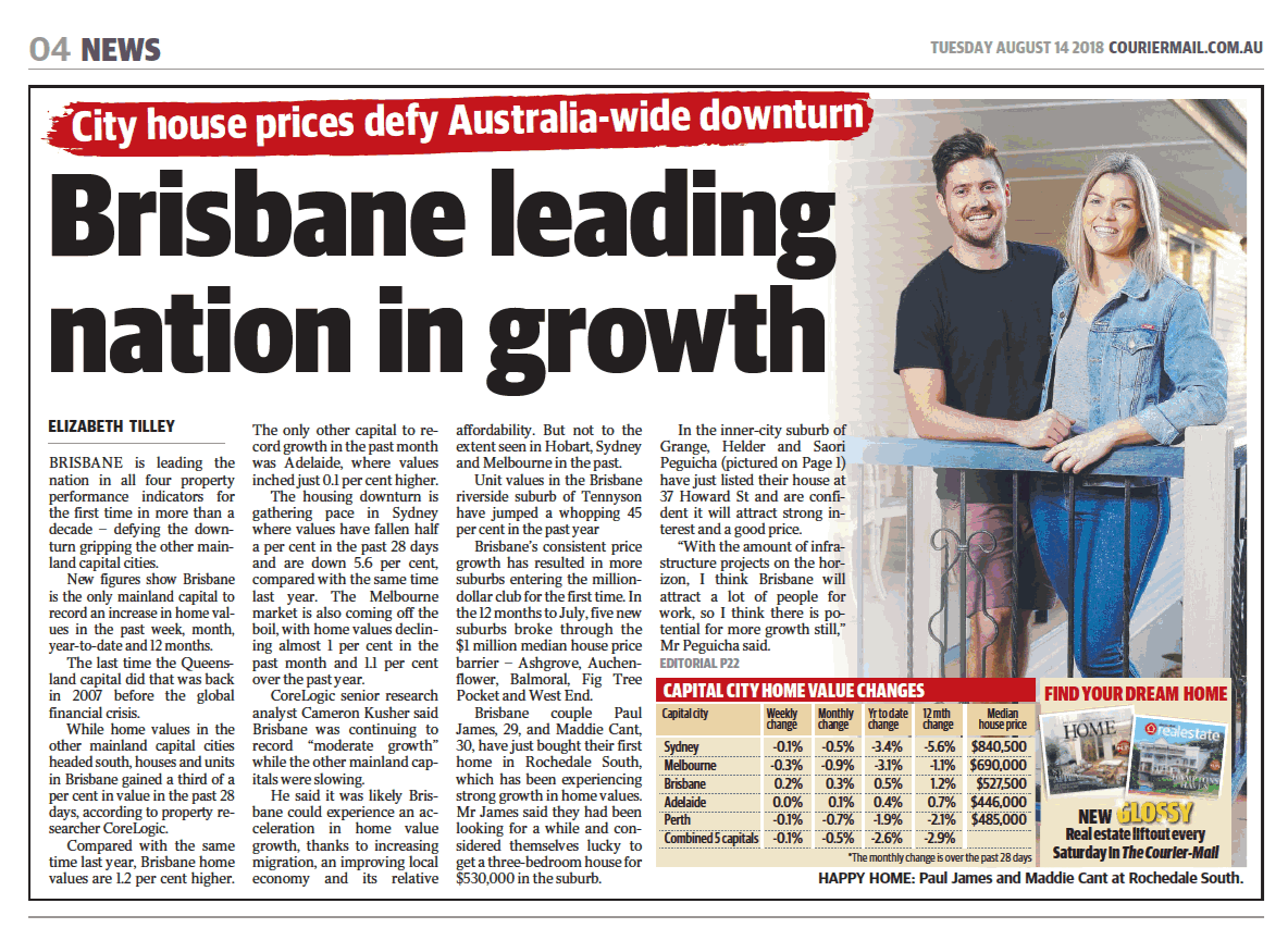 Brisbane leading nation in growth
