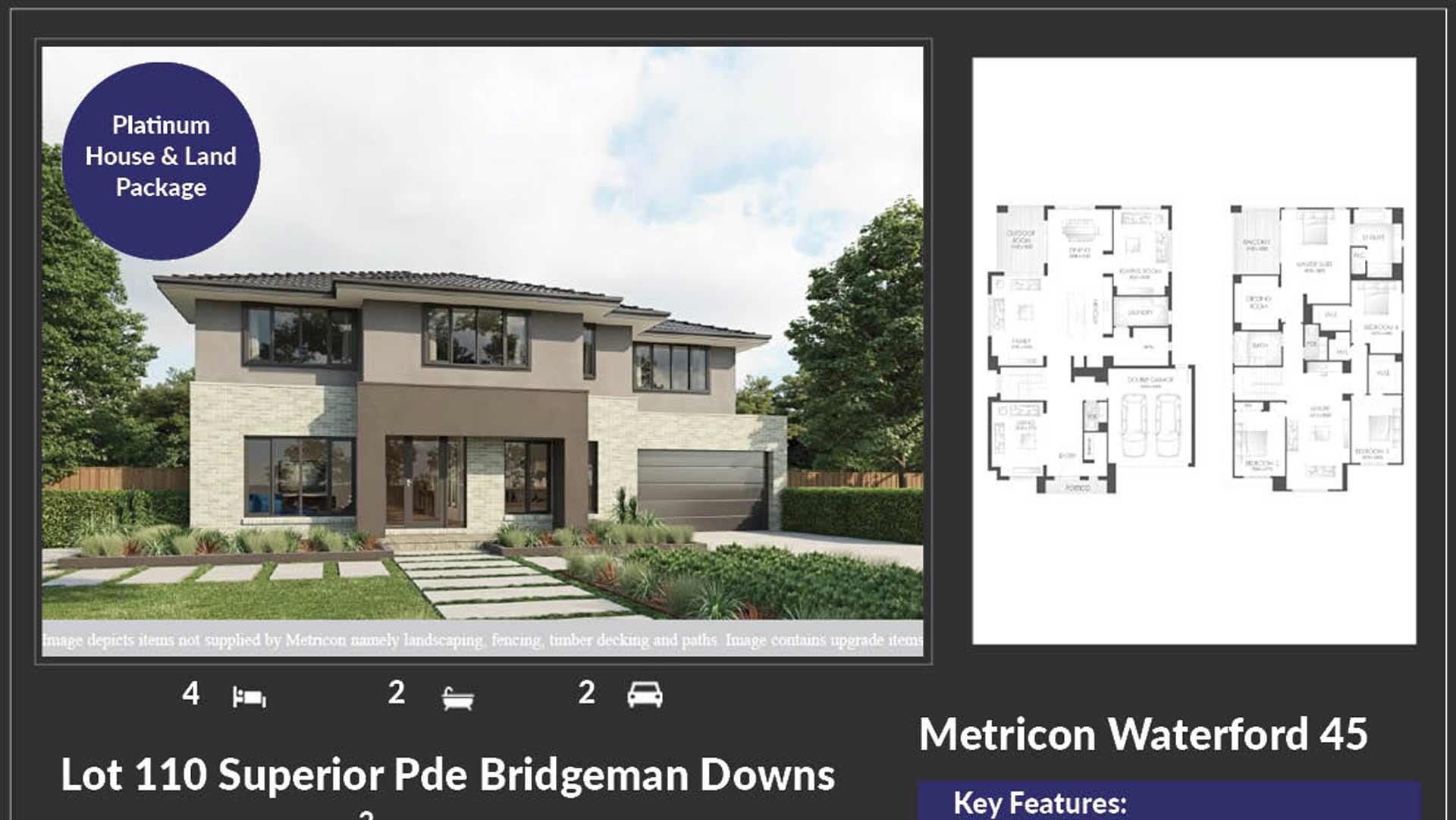 Metricon to build luxury homes at Bridgeman Hilltop estate