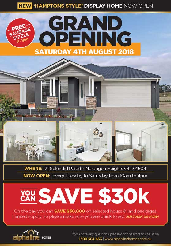 Alphaline's new display home opens this Saturday