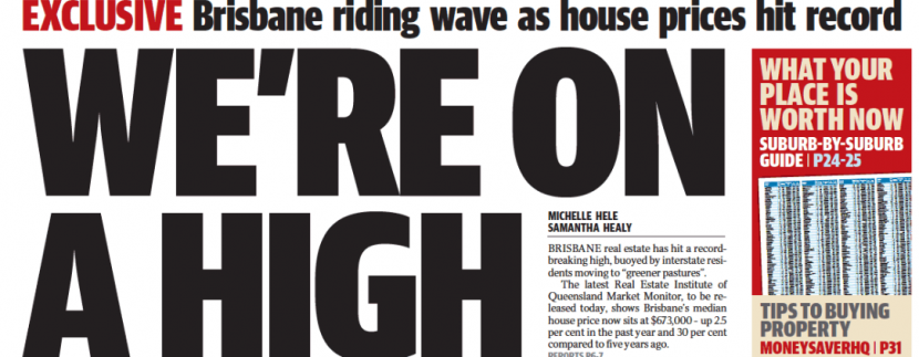 Brisbane Riding Wave as House Prices Hit Record