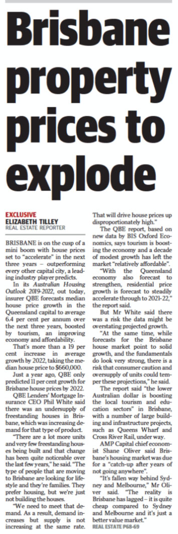 Brisbane Property Prices to Explode