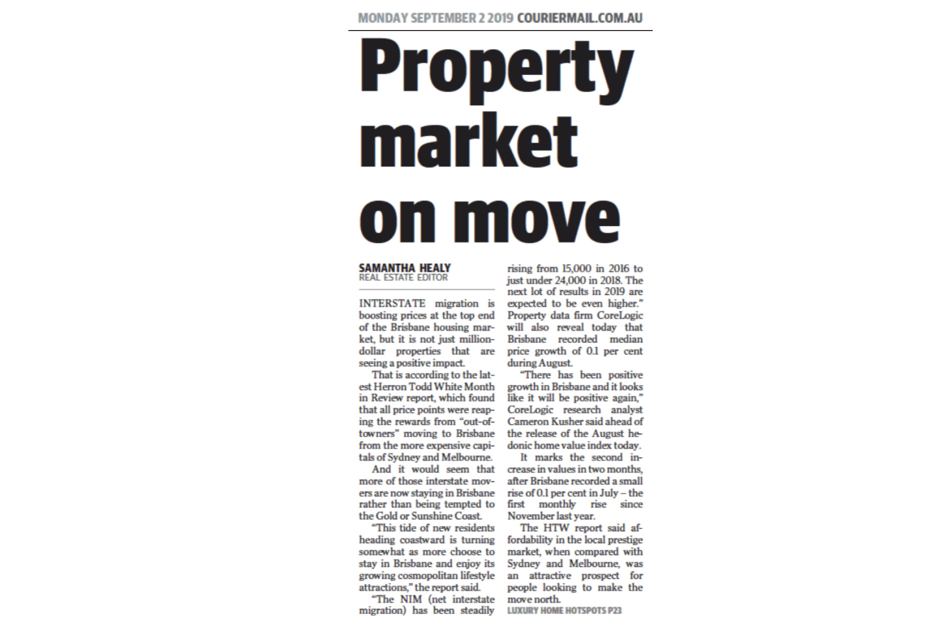 Property Market on Move
