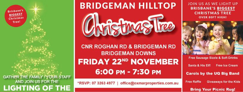 2019 Bridgeman Hilltop Lighting of the Christmas Tree Invitation